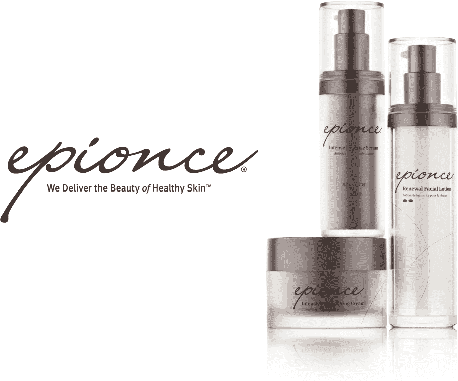 Epionce logo and product group